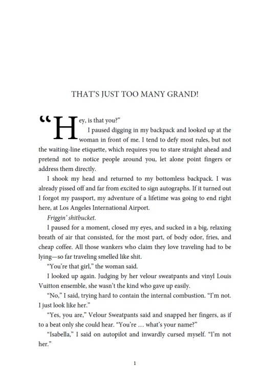Fist page of paperback