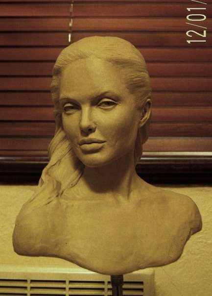Angelina in clay